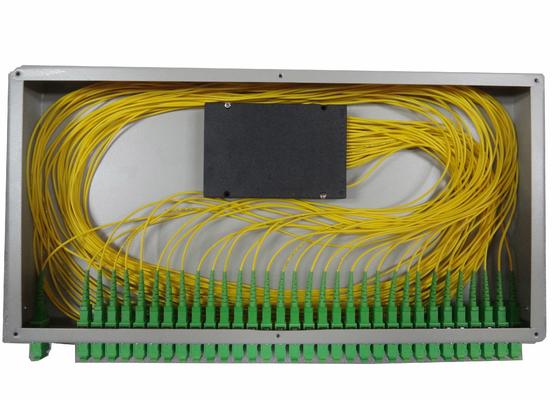 1x16 PLC الألياف البصرية الفاصل لحامل الخيالة الألياف مربع المحطة الطرفية