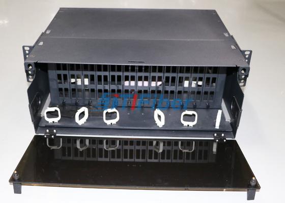 4U Slidable الألياف البصرية لوحة التصحيح لالخطة المتوسطة الأجل / MPO الألياف كاسيت وحدة