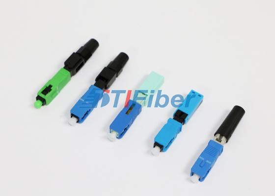 FC ST LC الألياف البصرية موصل لشبكات الألياف الضوئية للمنازل مع فقدان الإدراج عالية
